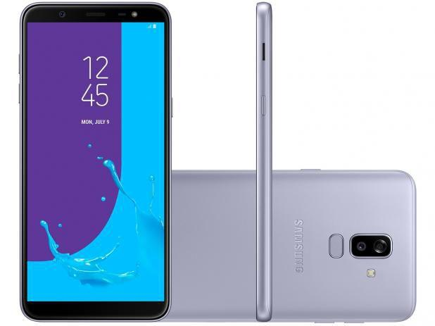 """a8ae68112f Imagem de Smartphone Samsung Galaxy J8 64GB Prata 4G - 4GB RAM Tela 6"""" Câm"""