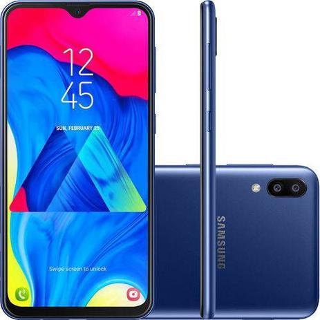 Smartphone Samsung Galaxy M10 32GB Dual Chip Android 8.1 Tela 6,2 ´ Oct Samusung gb1fea4j8f