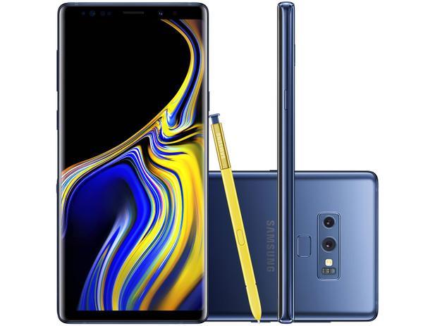 ad177f910 Smartphone Samsung Galaxy Note 9 128GB Azul 4G - 6GB RAM Tela 6