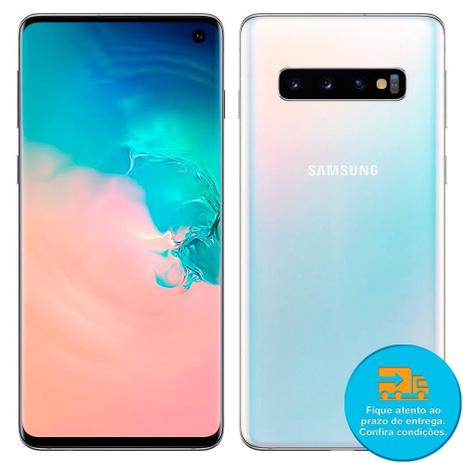 Imagem de Smartphone Samsung Galaxy S10, Dual Chip, Branco, Tela 6.1