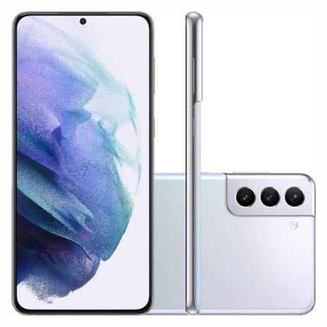 Imagem de Smartphone Samsung Galaxy S21+ 256GB 5G - Prata, Câmera Tripla 64MP + Selfie 10MP, RAM 8GB, Tela 6.7