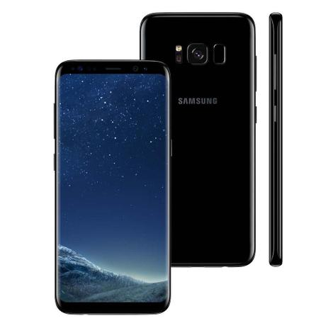 "Imagem de Smartphone Samsung Galaxy S8, 5.8"", 64GB, Android 7.0, 4G, 12MP - Preto"