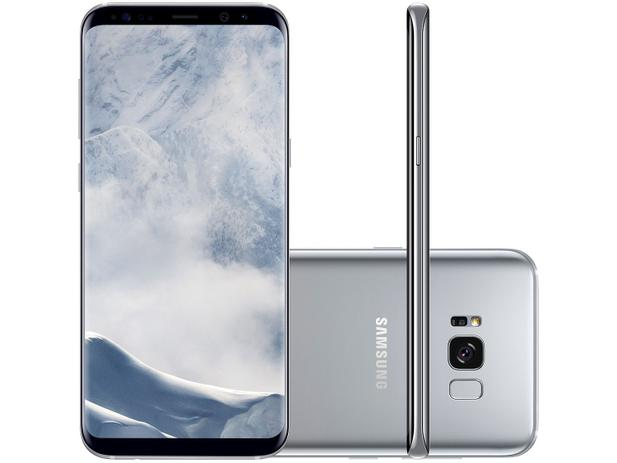 "Smartphone Samsung Galaxy S8+ 64GB Prata Dual Chip - 4G Câm. 12MP + Selfie  8MP Tela 6.2"" Quad HD ed293fc2db6cb"