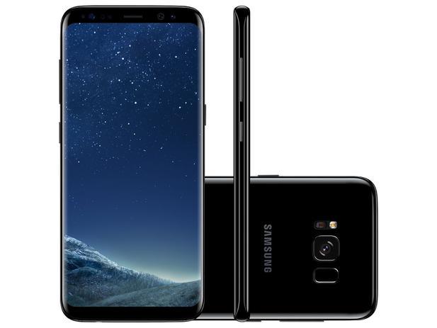smartphone samsung galaxy s8 64gb preto dual chip 4g c m 12mp selfie 8mp tela 5 8 quad hd. Black Bedroom Furniture Sets. Home Design Ideas
