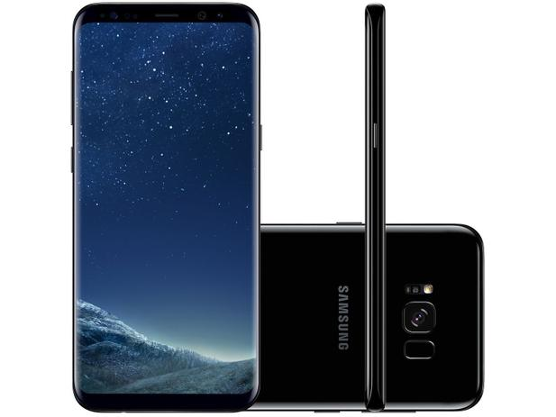 "Smartphone Samsung Galaxy S8+ 64GB Preto Dual Chip - 4G Câm. 12MP + Selfie  8MP Tela 6.2"" Quad HD ca2ee5a54265f"