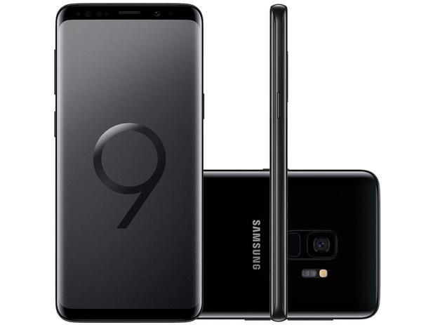 "af9df3f924 Smartphone Samsung Galaxy S9 128GB Preto 4G - 4GB RAM Tela 5.8"" Câm. 12MP +  Câm. Selfie 8MP"