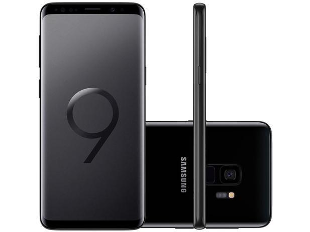 "30de14f0f9 Smartphone Samsung Galaxy S9 128GB Preto 4G - Câm. 12MP + Selfie 8MP Tela  5.8"" Quad HD Octa Core"