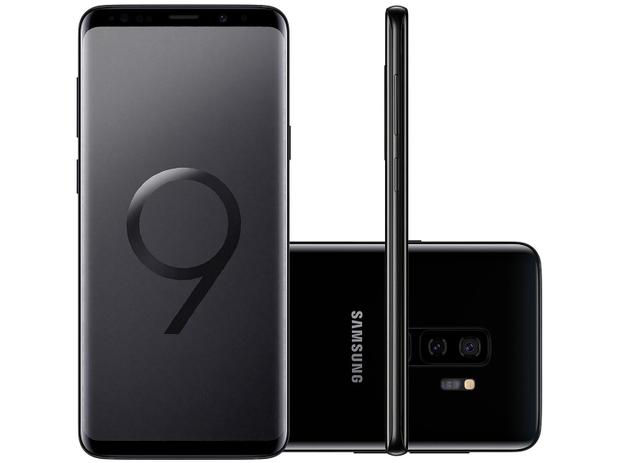 "6ab972befdd Smartphone Samsung Galaxy S9+ 128GB Preto 4G - Câm. 12MP + Selfie 8MP Tela  6.2"" Quad HD Octa Core"
