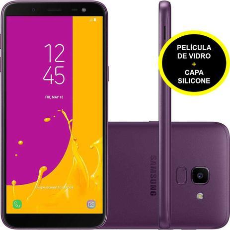Imagem de Smartphone Samsung J600G Galaxy J6 Violeta 32 GB + Película De Vidro + Capa Silicone