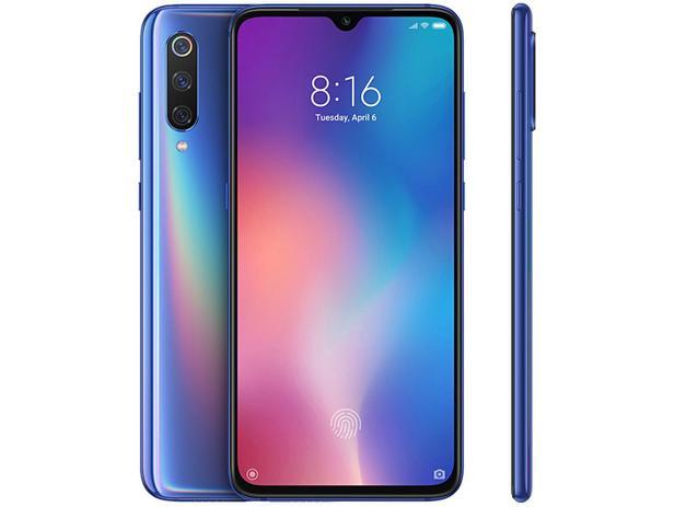 "Smartphone Xiaomi Mi 9 128GB Azul Oceano 4G - 6GB RAM Tela 6,39"" Câm. Tripla + Câm. Selfie 20MP"