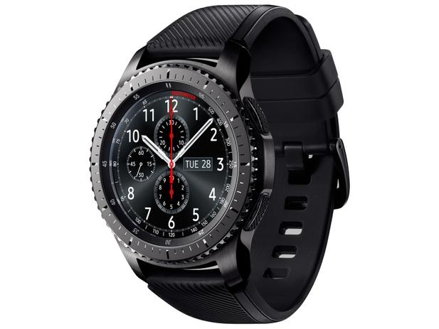 "4d96bbe2a64 Smartwatch Samsung Gear S3 Frontier - Tela 1.3"" Touch 4GB Proc. Dual Core"