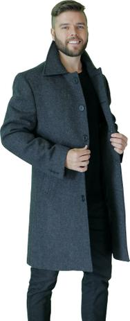 Imagem de sobretudo masculino de lã preto 52