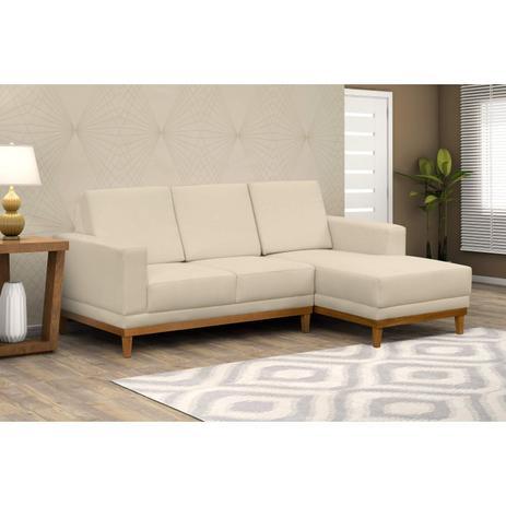 Wondrous Sofa 3 Lugares Com Chaise Cronus D Monegatto Marfim Forskolin Free Trial Chair Design Images Forskolin Free Trialorg