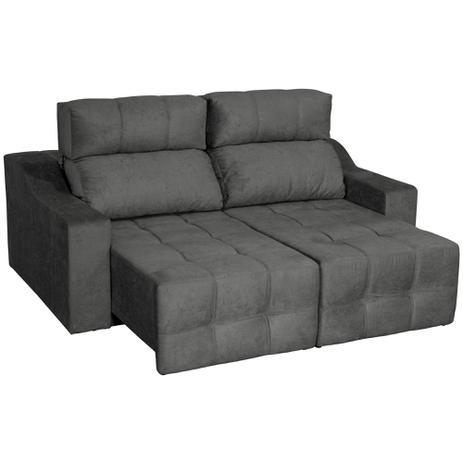 Awesome Sofa 3 Lugares Connect Slim Retratil E Reclinavel Suede Amassado Cinza Rifletti Estofados Machost Co Dining Chair Design Ideas Machostcouk