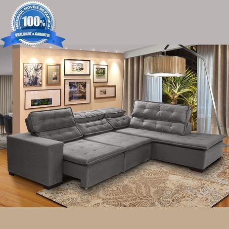 f027a0959 Sofá 5 Lugares Chaise Retrátil e Reclinável de Canto Sttilo 2