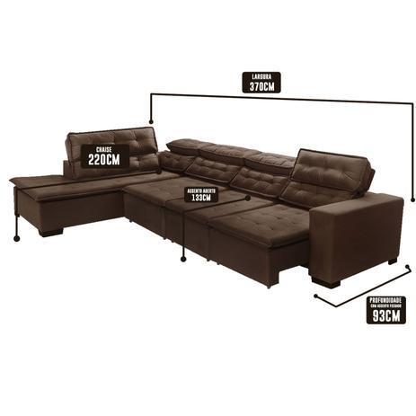 Enjoyable Sofa 7 Lugares De Canto Retratil E Reclinavel Sttilo Com Chaise 3 70 Marrom512 Megasul Evergreenethics Interior Chair Design Evergreenethicsorg