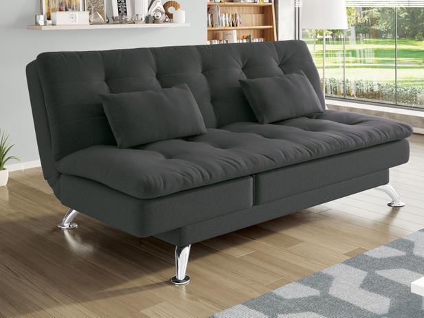 2b294779d Sofá-cama Suede Reclinável Linoforte - Jade A2 - Sofás - Magazine Luiza