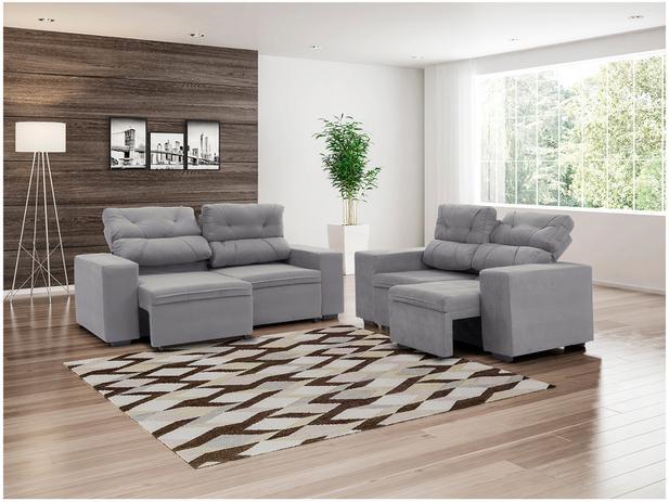 Sof retr til e reclin vel 2 e 3 lugares suede phormatta for Sofa 7 lugares retratil e reclinavel firenze
