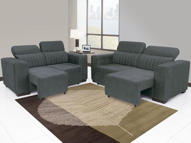 Sof retr til e reclin vel 3 lugares elite linoforte for Sofa 7 lugares retratil e reclinavel firenze
