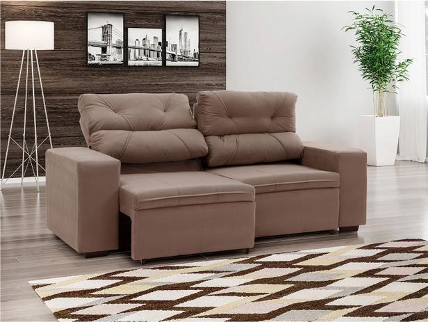 Sof retr til e reclin vel 3 lugares suede phormatta for Sofa 4 lugares reclinavel e assento retratil