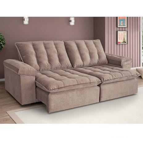 Sofa Retratil E Reclinavel 4 Lugares Itaguai 290cm Estofart Bege