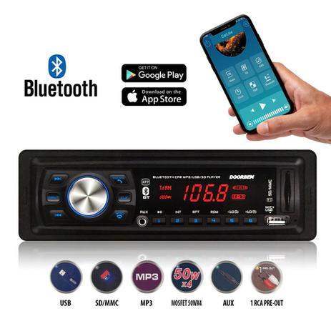Imagem de Som Automotivo MP3 Bluetooth Com App