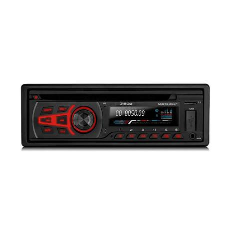 Imagem de Som Automotivo Multilaser Disco, Preto, P3322, CD Player, Bluetooth, USB