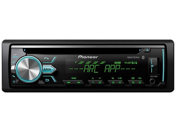 Som Automotivo Pioneer DEH-X5BR CD Player - Bluetooth MP3 Player Rádio AM/FM USB Auxiliar