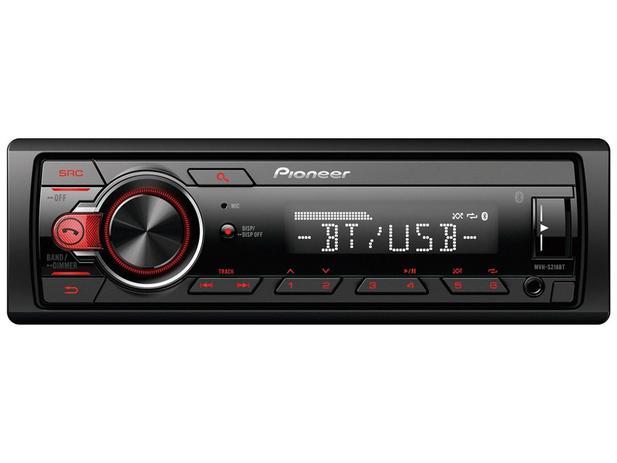 Imagem de Som Automotivo Pioneer MP3 Player Rádio AM/FM - Bluetooth USB Auxiliar MVH-S218BT