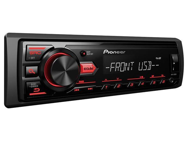 Som Automotivo Pioneer MVH-88UB MP3 Player  - Rádio AM/FM Entrada USB Auxiliar