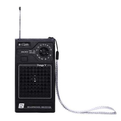 Imagem de Som Portátil Motobras RM-PF25 Rádio FM e AM Fone de Ouvido 0.5W RMS Preto