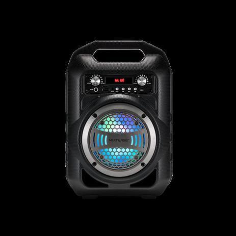 Imagem de Som Portatil Multilaser Bluetooth/USB/SD 50W RMS Recarregavel C/Microfone Led Multicolor SP255