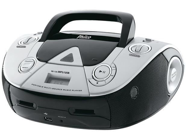 Imagem de Som Portátil Philco PB126 USB FM CD Player
