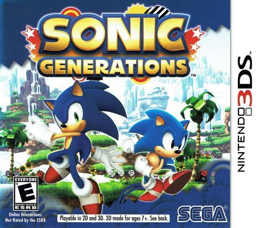 Resultado de imagem para sonic generations 3ds