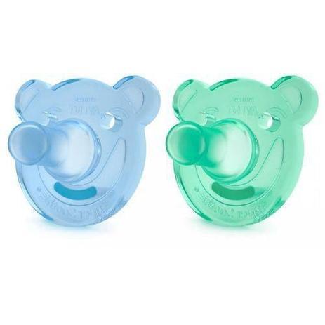 Imagem de Soothie Calmante 0-3 Meses Ursinho Azul e Verde - Avent Ref Scf194/01