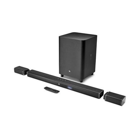 Imagem de Soundbar JBL BAR 5.1 - 218W RMS, Bluetooth, SoundShift, Subwoofer sem Fio, Entrada HDMI/AUX/USB - Bivolt