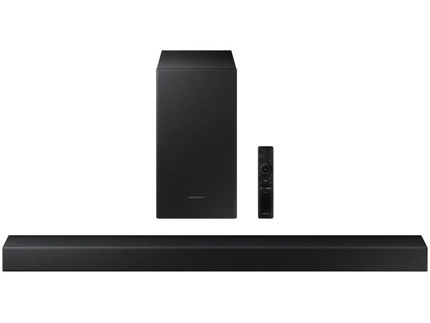 Soundbar Samsung HW-T450/ZD com Subwoofer – Bluetooth 200W 2.1 Canais USB
