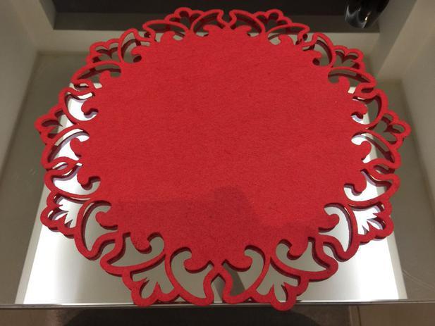 Imagem de Sousplat em feltro vermelho Natal Kit com 20 unidades