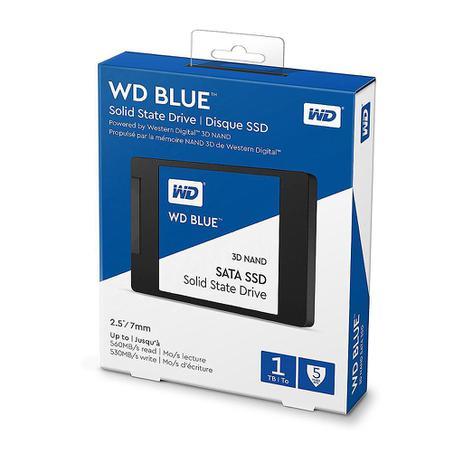 Imagem de SSD 1TB WD BLUE SATA III Nova Versão 3D VNAND - Modelo WDS100T2B0A