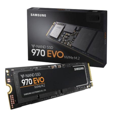 Imagem de SSD 500GB SAMSUNG 970 EVO M.2  PCIe Gen 3.0 X4 NVMe NAND MLC - Modelo MZ-V7E500BW