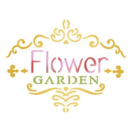 Stencil Litoarte 10x10 Stx 322 Selo Flower Garden Estencil Para Pintura Magazine Luiza