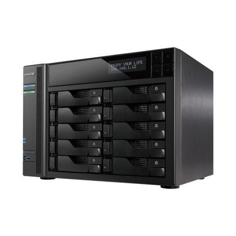 Imagem de Storage Nas Asustor As6210t 10 Baias Sem Hdd Cpu Intel Celeron J3160 Quad Core 1,6 Ghz 4 Gb Ram