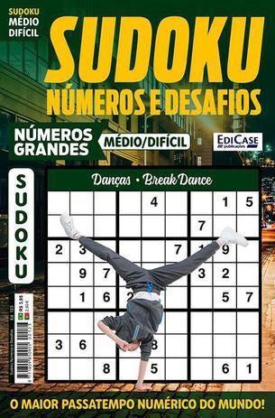 Imagem de Sudoku Números e Desafios Ed. 123 - Médio/Difícil - Só Jogos 9x9 - Números Grandes - Danças - Break Dance