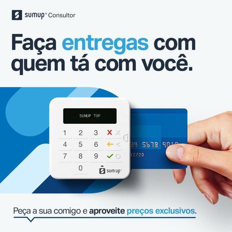 Imagem de SumUp Top A Maquininha de Cartão Sem Aluguel Débito e Crédito+Capinha de brinde