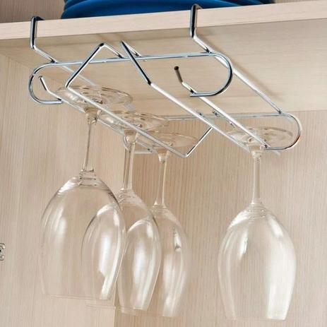 Imagem de Suporte Aéreo Porta 6 Taças Organizador Armário Cozinha