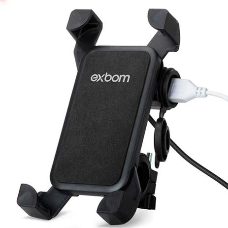 Imagem de Suporte Celular Exbom com Carregador Usb SP-CA54 Moto 4.5 A 7.5 PO