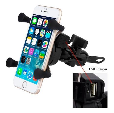 Imagem de Suporte de Celular Spider para Moto com Carregador USB