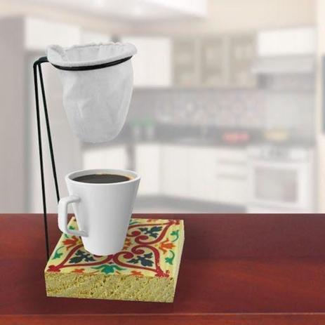 Imagem de Suporte Para Coador De Cafe Individual De Pano Com Caneca - Cocaplas