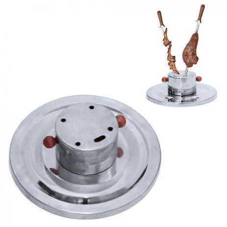 Imagem de Suporte para Espeto em Aluminio com 5 Furos  Jl Artesanatos