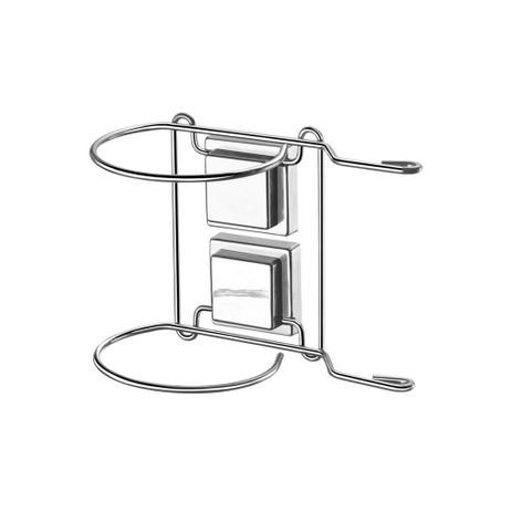 Imagem de Suporte para Secador de Cabelo com Fixação por Sucção Cromado